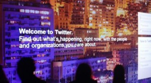 Twitter log-in screen
