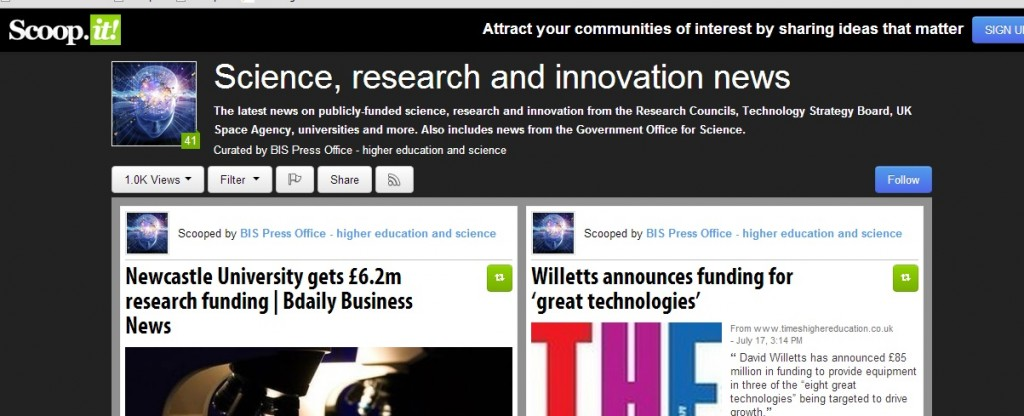 scoop.it science and innovation news
