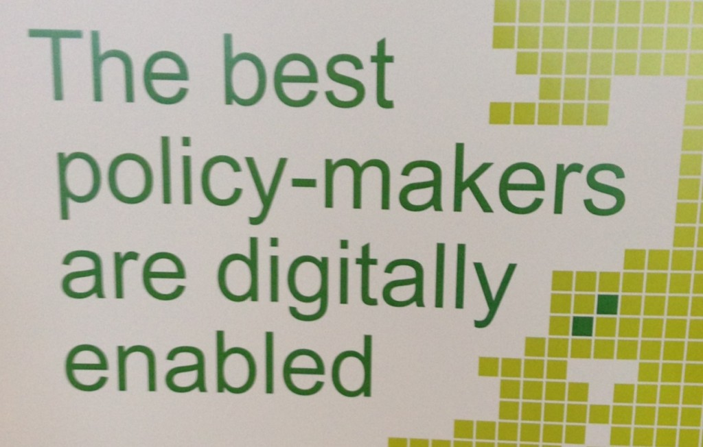 "A poster promoting digital Fortnight. Text says: ""The best policy-makers are digitally enabled""."