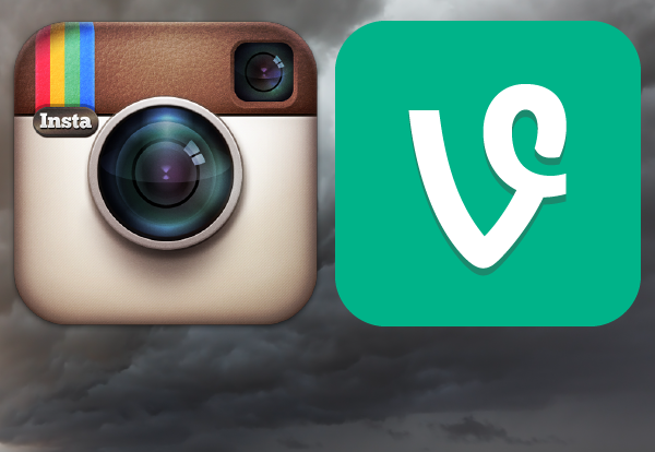 The Instagram and Vine social media icons.