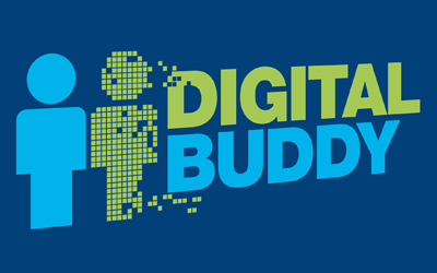 Graphic promoting the Digital Buddies project.