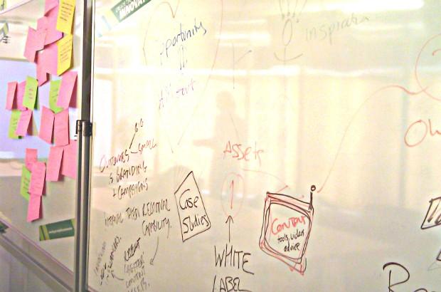 A whiteboard.