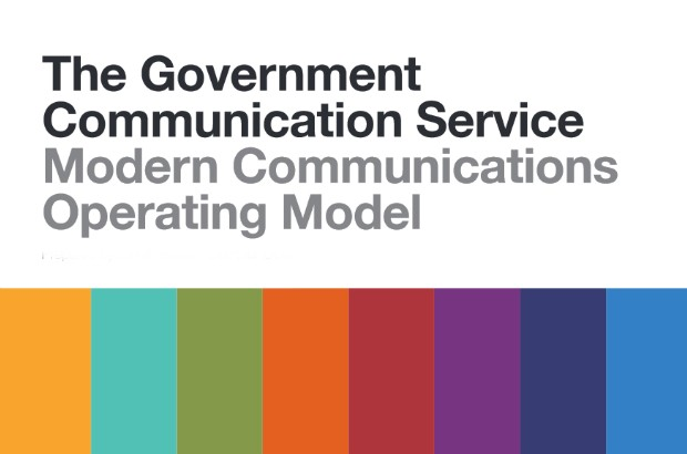Graphic promoting the Modern Communications Operating Model,