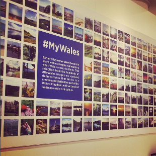 Poster showing photos from the #MyWales Instagram competition.