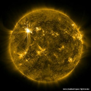 Solar flare (credit: NASA/Goddard Space Flight Centre)
