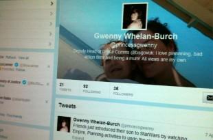 Gwenny Twitter profile