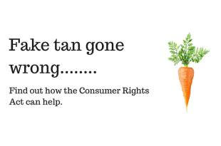 Fake tan gone wrong infographic featuring a picture of a carrot