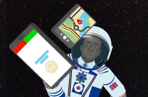 Sam Gyimah avatar in space from our Science Spotlight animation.